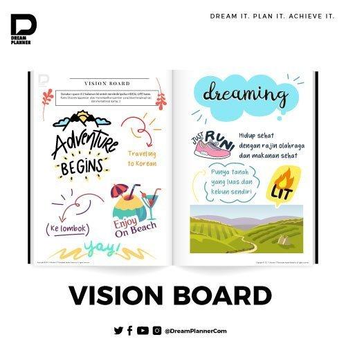 Buat Kreativitas Di Dalam Vision Board DreamPlanner
